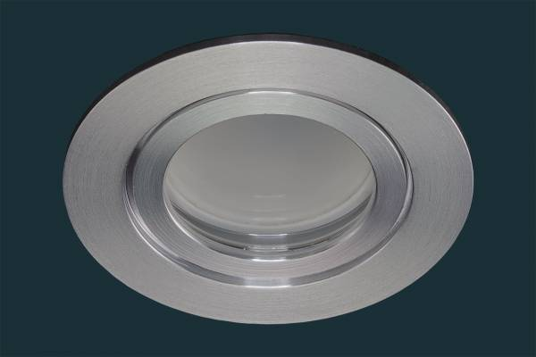 LED Einbaustrahler FLAT DIM IP44 120, aluminium