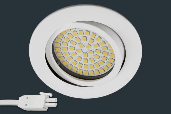 Ultra Flach LED Einbaustrahler 230V, rund, weiß