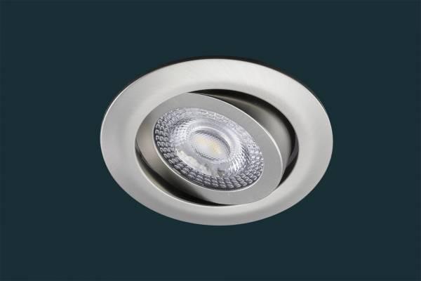 LED Einbaustrahler flach TRI DIM Click, 5W, matt-chrom