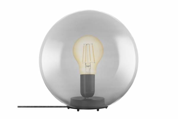 Tischlampe Glas 1906 Bubble, grau, inkl. Leuchtmittel