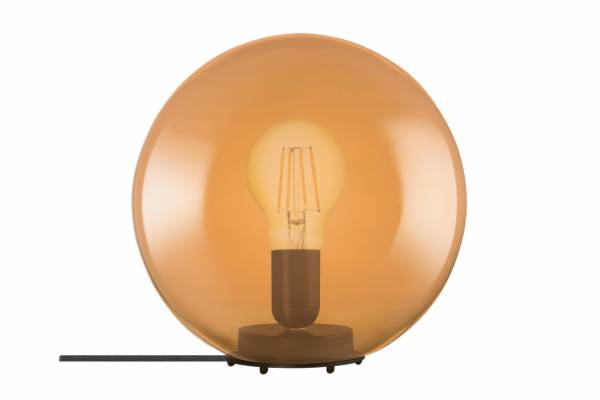 Tischlampe Glas 1906 Bubble, orange, inkl. Leuchtmittel