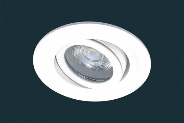LED Einbaustrahler SOLID ALU ADV IP44, schwenkbar, weiß
