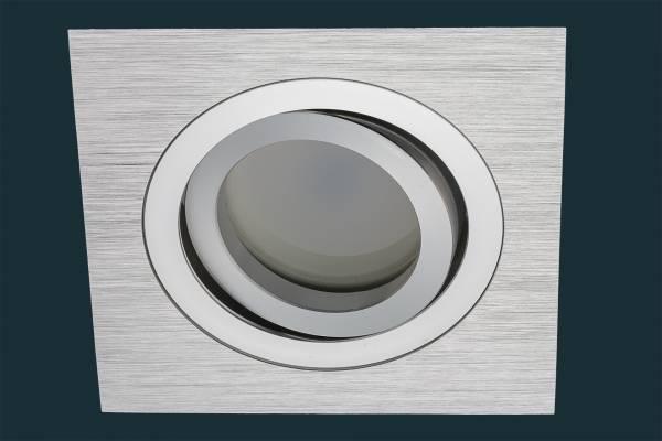 LED Einbaustrahler Solid Alu, FLAT DIM 120, eckig