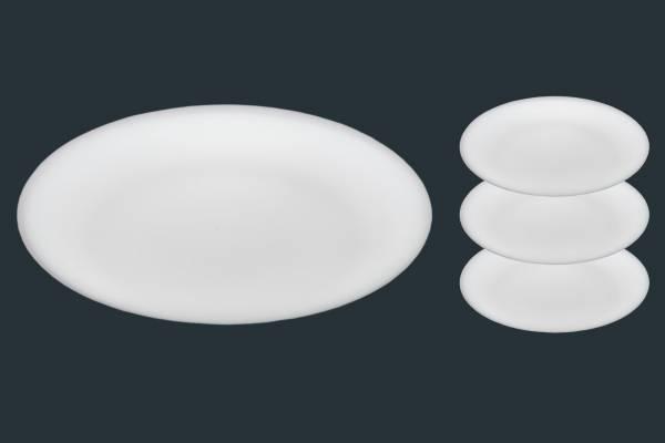 3er Set LED Einbaustrahler 4 Watt, opal