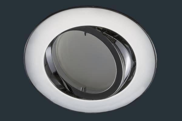 LED Einbaustrahler flach FLAT DIM 120, chrom