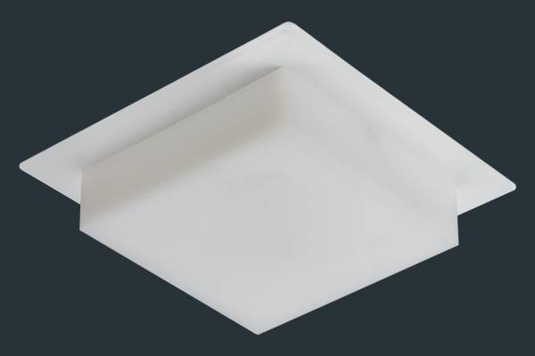 LED Einbaustrahler SOFTLight flach, eckig, weiß