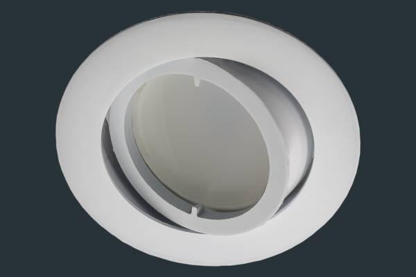 led einbaustrahler flach flat dim 230v rund wei leuchtenmarkt. Black Bedroom Furniture Sets. Home Design Ideas