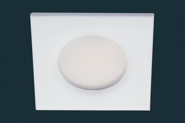LED Einbaustrahler FLOOD IP44, eckig, weiß