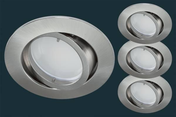 3er Set SmartHome Einbaustrahler SMART+ WiFi, RGBW, matt-chrom