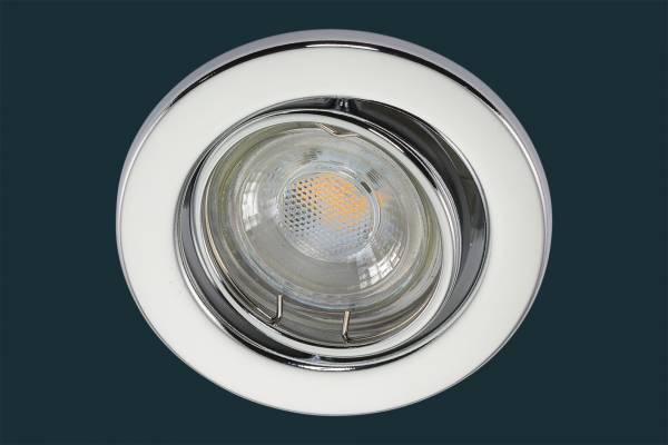 LED Einbaustrahler 5 Watt, blank chrom
