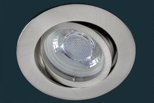 LED Einbaustrahler flach FLAT DIM 38, matt-chrom