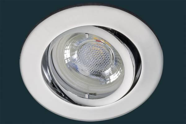 LED Einbaustrahler flach FLAT DIM 38, chrom