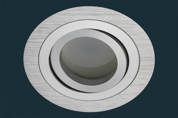 LED Einbaustrahler Solid Alu FLAT DIM 120, rund