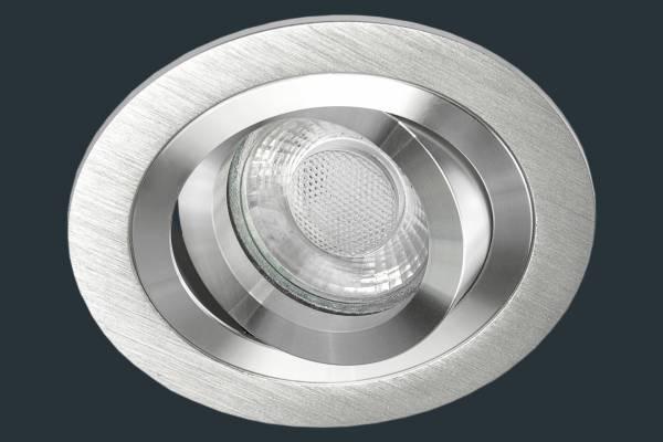 LED Einbaustrahler SOLID ALU, aluminium rund