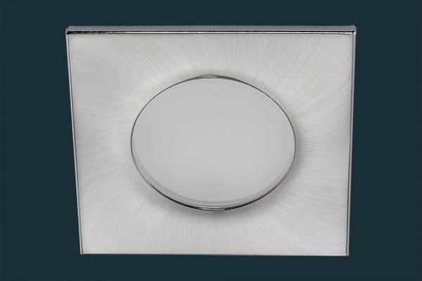 LED Einbaustrahler FLOOD IP44, eckig, matt-chrom
