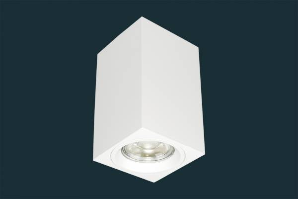 LED Aufbaustrahler 5W GU10 230 Volt eckig, weiß