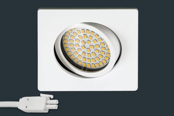 Ultra Flach LED Einbaustrahler 230V, eckig, weiß