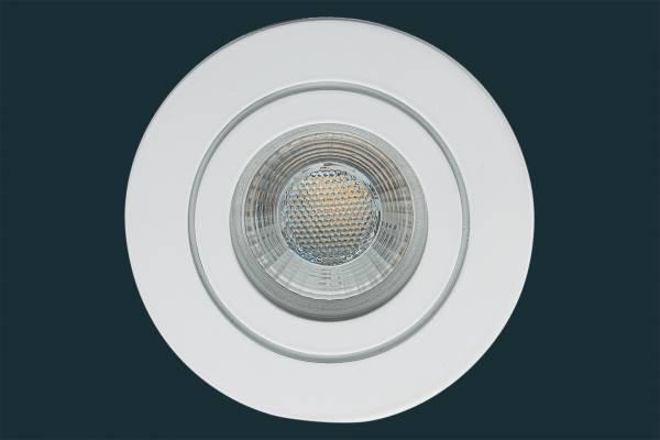 LED Einbaustrahler FLAT DIM IP44 38, weiß