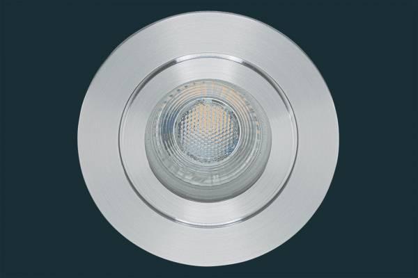 LED Einbaustrahler FLAT DIM IP44 38, aluminium