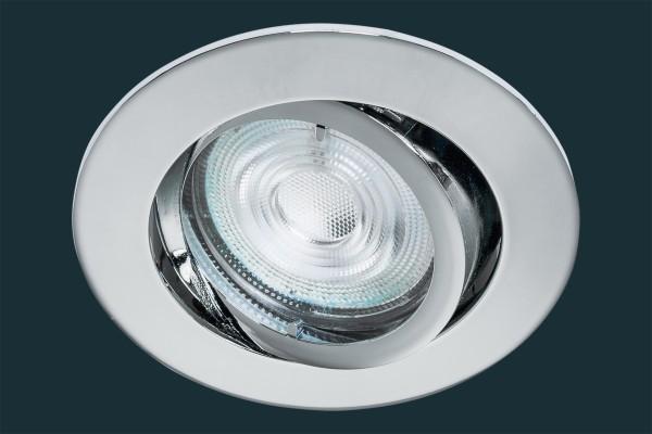 LED Einbaustrahler Osram Superstar, dimmbar, blank chrom