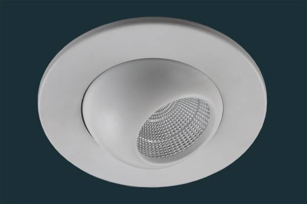 LED Einbaustrahler GLOBE flach 230V, weiß