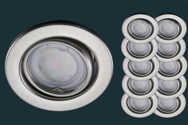 10er Set LED Einbaustrahler, Osram Star 120°