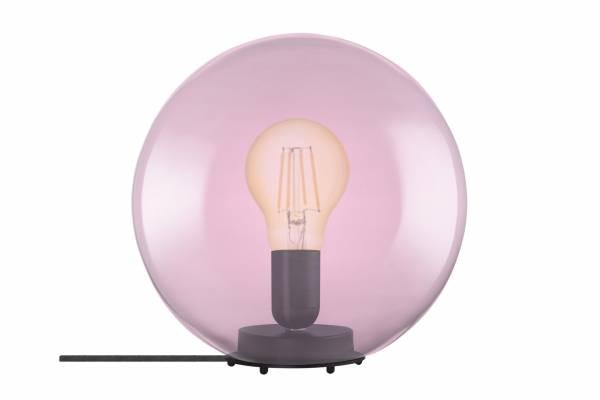 Tischlampe Glas 1906 Bubble, pink, inkl. Leuchtmittel