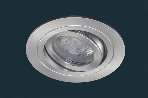 LED Einbaustrahler SOLID ALU ADV IP44, schwenkbar, aluminium