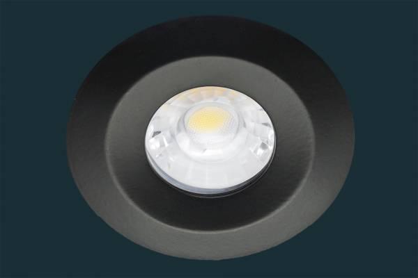 LED Einbaustrahler JET, IP65, dimmbar, 8W, schwarz