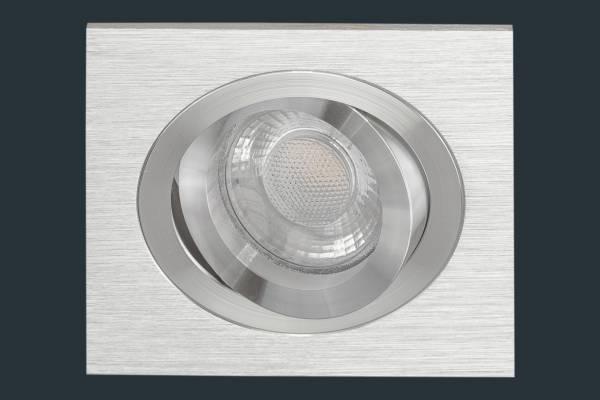 LED Einbaustrahler SOLID ALU, aluminium eckig
