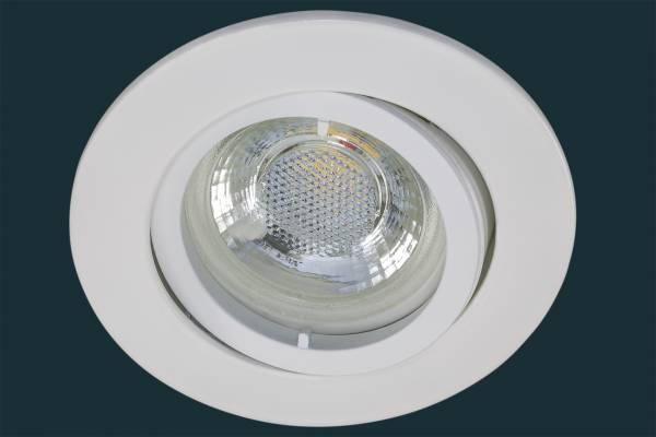 LED Einbaustrahler flach FLAT DIM 38, weiß