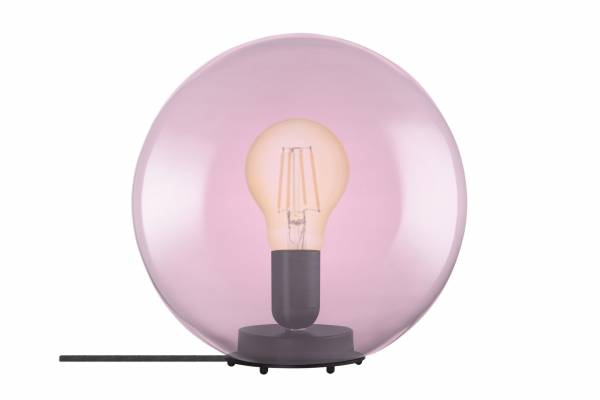 Tischlampe Glas 1906 Bubble, pink