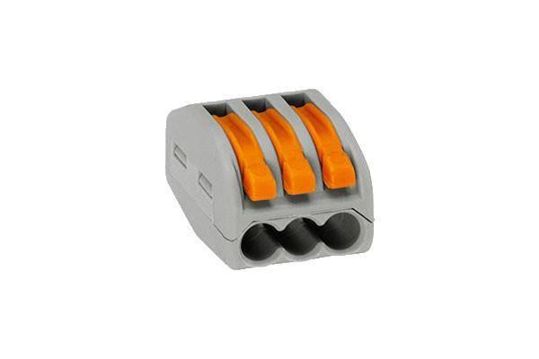 Verbindungsklemme 3 x 0,08-4 mm² Polzahl: 1, grau