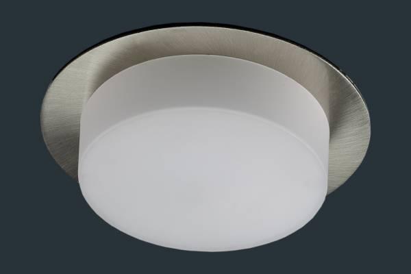 LED Einbaustrahler SOFTLight flach, rund, matt chrom