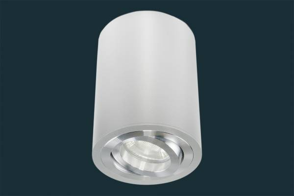 LED Aufbaustrahler 5W GU10 230 Volt, rund, aluminium