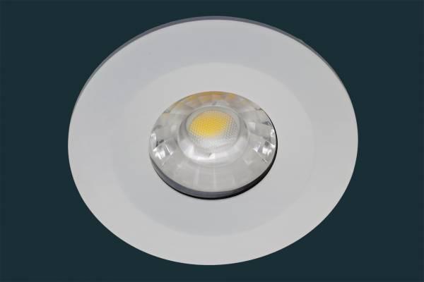 LED Einbaustrahler JET, IP65, dimmbar, 8W, weiß